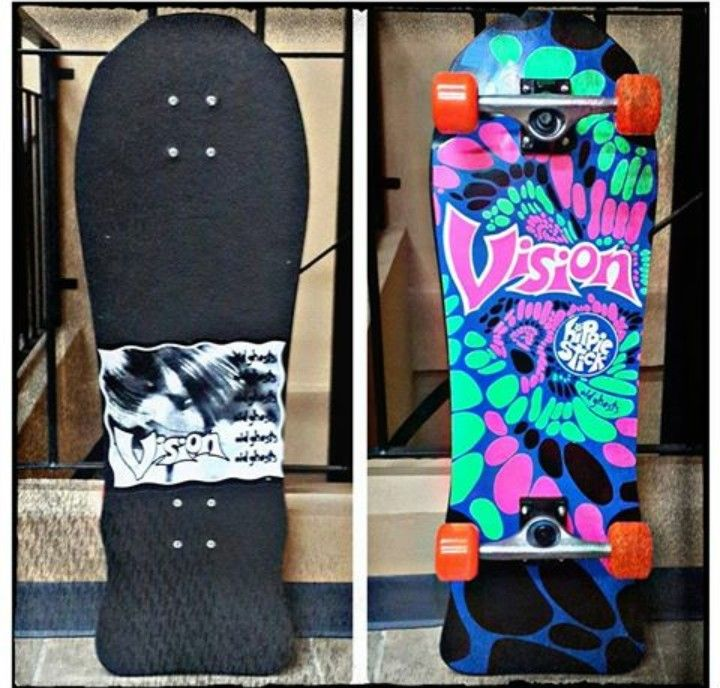 Vision Old Ghosts Hippie Stick skateboard.