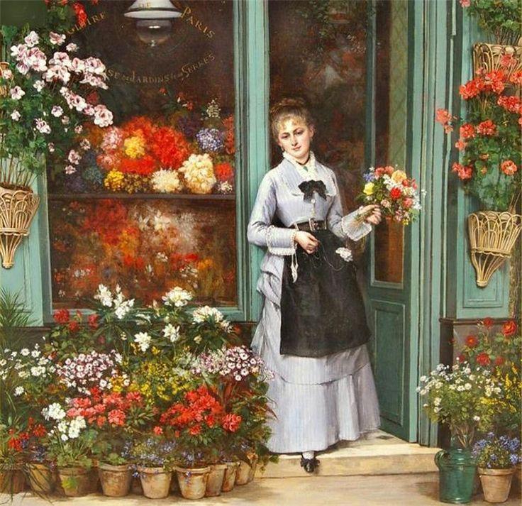 Не секрет, что чаще всего в искусстве, в качестве источника вдохновения, выступают красота женщины и красота цветов. А сочетание — это всегда беспроигрышный вариант! Теперь уже редко кто использует слово «цветочница» в названии профессии, теперь все говорят — флорист. Вроде бы «флорист» — это как бы высшее образование, а «цветочница» — что-то типа ПТУ :) Не мне судить, да и речь о прекрасном :)…