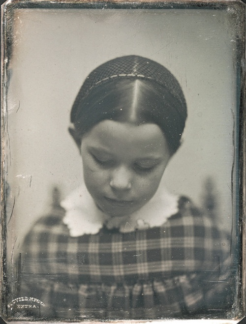 Little girl with a net. Alice Mary Hawes, photographed by Southworth & Hawes, ca. 1852