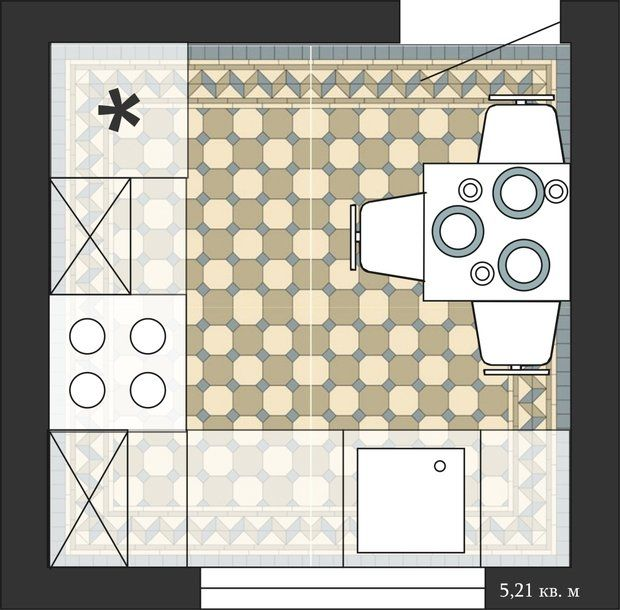 Фотография:  в стиле , Кухня и столовая, Перепланировка, кухня в хрущевке…