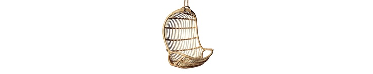 Hanging Rattan Chair   Serena & Lily