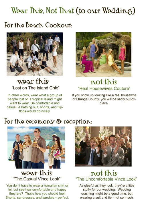 Wedding dress code 5 clever ways to tell guests what to for Wedding guest dress code