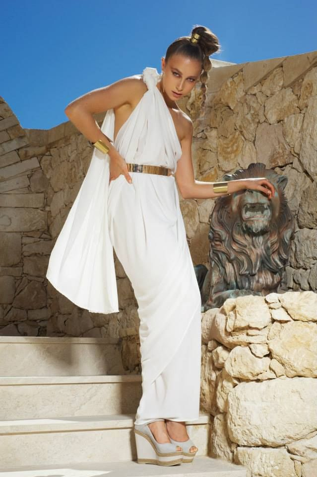 Santorini dress ivory