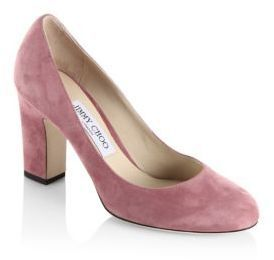 Jimmy Choo Billie 85 Suede Block Heel Pumps http://shopstyle.it/l/dCwh