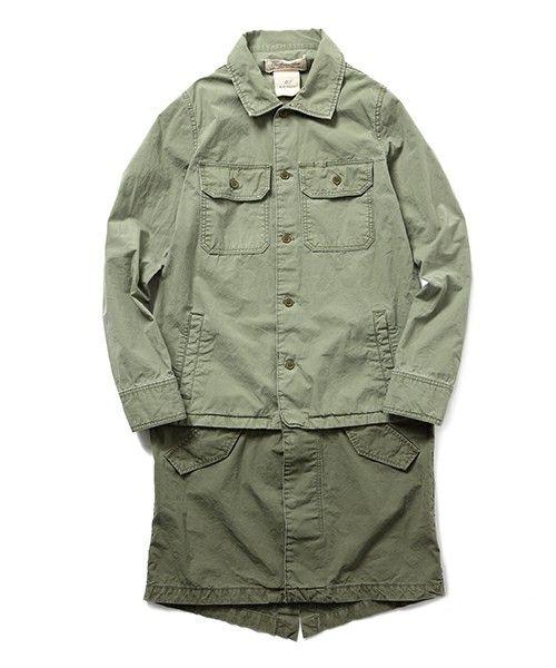 「REMI RELIEF / ミリタリーシャツ モッズコート」