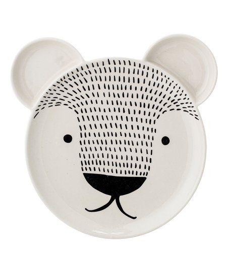 Bear Face Stoneware Plate | zulily
