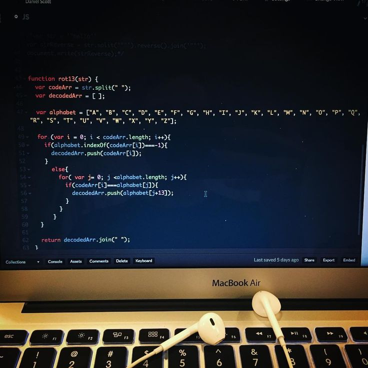 """This is a shift cipher or """"Caesars Cipher"""" I constructed using #javascript  Although it's probably not my most efficient design it's interesting to see how I'm about create a thought process for the JavaScript console in my machine to decipher a ROT13 code.  #coder #ghostintheshell"""