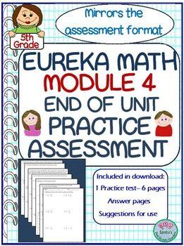 5th Grade Eureka Math Module 4 End of Unit Practice Test ...