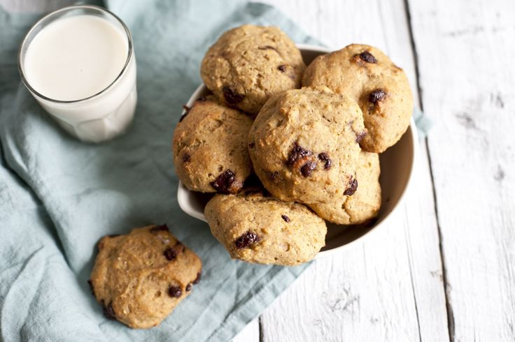 Biscuits aux pois chiches, citrouille et chocolat | Recette