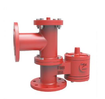 PRP Pressure vacuum relief valve piped away - Equipmentimes.com