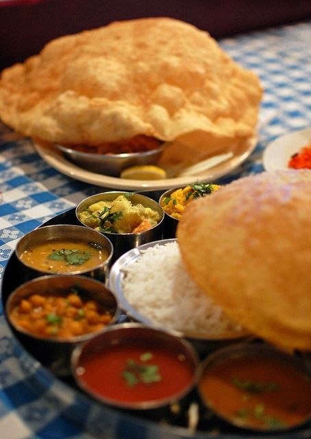 Papadoms served with a thali