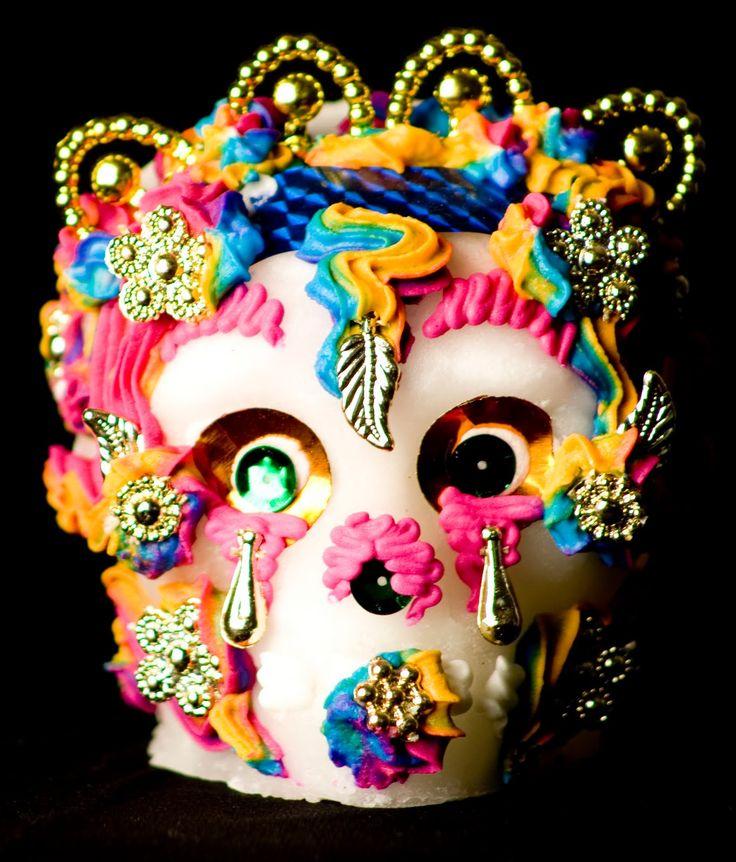 ... calavera de azúcar de Metepec, Toluca para día de muertos