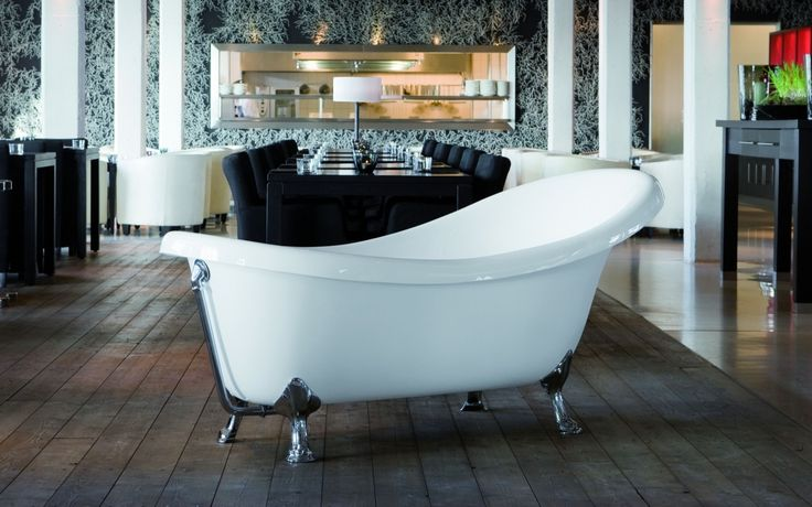 6215386-2   Knief Victorian Frittstående badekar 1745x830 mm. Løveføtter i Krom