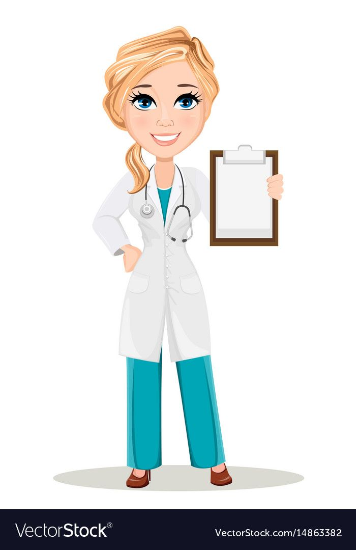 Doctor Woman In Medical Gown With Stethoscope Vector Image On
