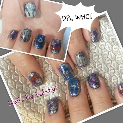 199 best nail art images on pinterest minion nail art minions dr who nail art tardis weeping angels gel nail art hand painted prinsesfo Gallery