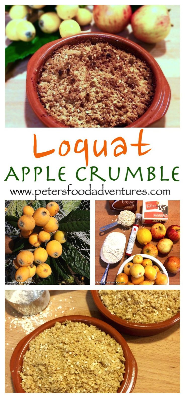 Loquat Apple Crumble also known as Japanese Plum, is a recipe that's easy to…