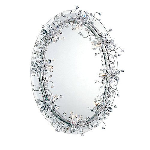 Charmingly regal and intricately detailed with clear crystal beading, each mirror is a sparkling work of art. Available in rectangular and oval formats, this timeless collection is a dazzling addition to any formal décor.