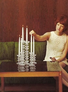 Timo Sarpaneva Festivo candle holders. An old picture from Avotakka magazine.