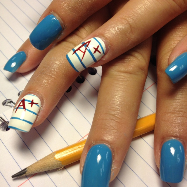My back to school nails! Love it. By Jeany - Best 25+ Back To School Nails Ideas On Pinterest School Nails