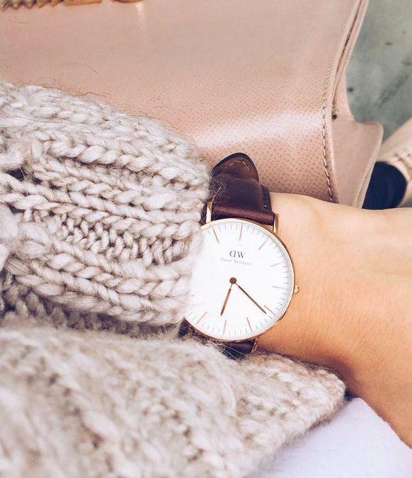 Geschenkidee für Weihnachten: schlichte Uhr von Daniel Wellington @aboutyoude