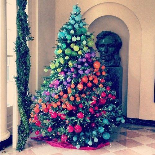 hgtv rainbow christmas tree