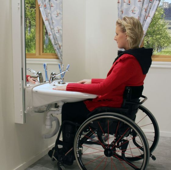 17 best images about accessible home on pinterest pocket for Wheelchair accessible sink