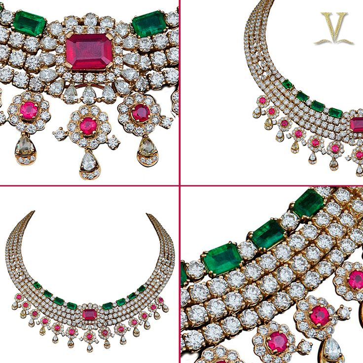 This season's bright tones, captured in a sparkling assortment of diamond jewels by Varuna D Jani.