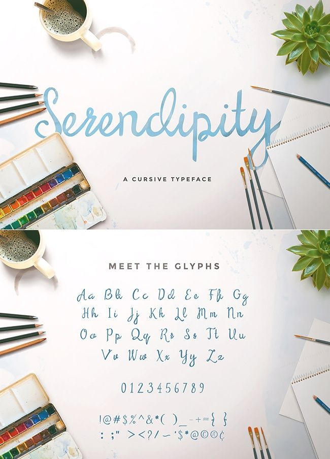 "grafiker.de - ""Serendipity"" - Ein kostenloser & handgeschriebener Font"