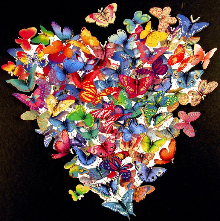 Author: Patappo: Happy Thoughts, Wild Heart, Beautiful Butterflies, Butterflies Kiss, Butterflies Wallpapers, Butterflies Heart, Valentines Day, Butterflies Art, Jigsaw Puzzles