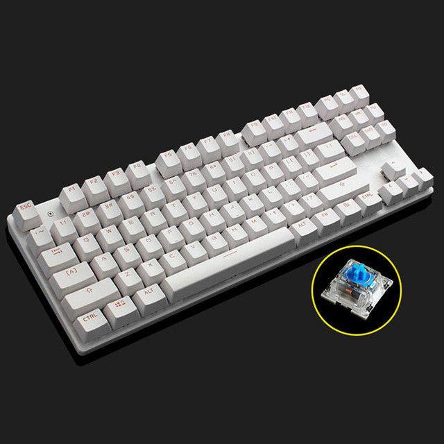 ZERO Mechanical Keyboard 87/104 keys Blue Switch Pro Gaming Keyboards for Tablet Desktop Russian Keyboard Stickers