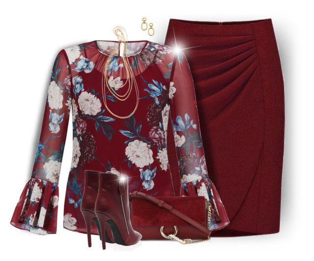 Burgundy Outfit by daiscat on Polyvore featuring Hobbs, Chloé, Wouters & Hendrix and Ben-Amun