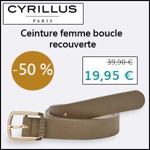 #missbonreduction; Economisez 50 % sur la Ceinture femme boucle recouverte chez Cyrillus. http://www.miss-bon-reduction.fr//details-bon-reduction-Cyrillus-i228-c1828756.html