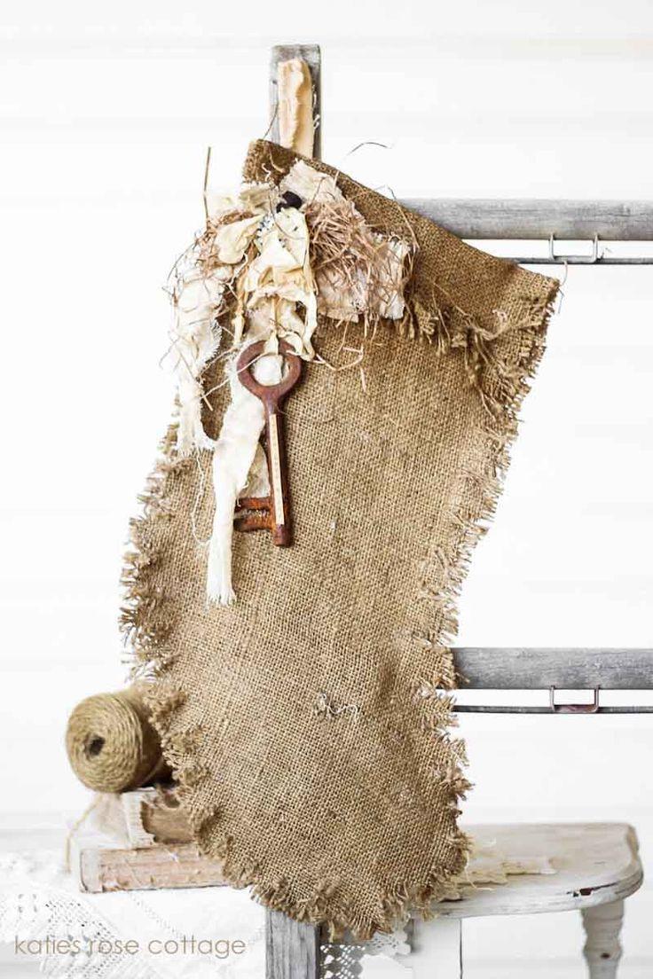 Best 25 burlap christmas stockings ideas on pinterest for Burlap christmas curtains