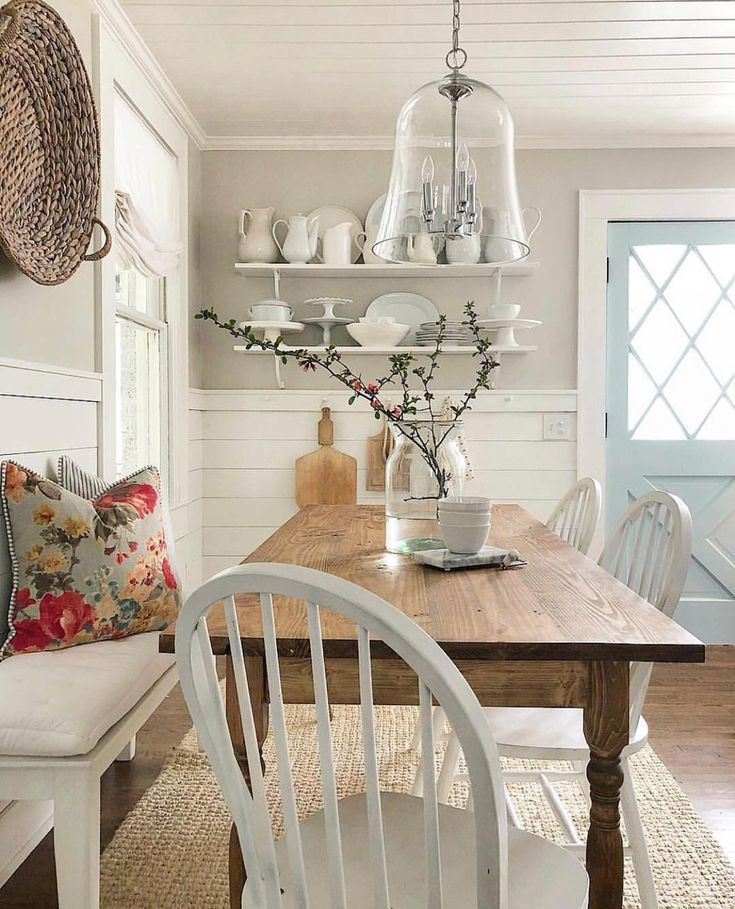 Love Everything About This Room But How Does It Transition To The Kitchen I Like That S What Scares Me Rustic Dining Room Farmhouse Dining Dining Room Design