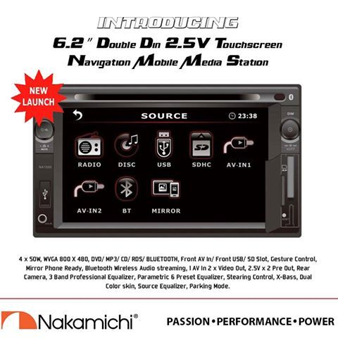 "Only the best of Passion, Performance and Power...  The NEW NA1550  6.2"" Double DIN 2.5V Touchscreen Mobile Media Station!"