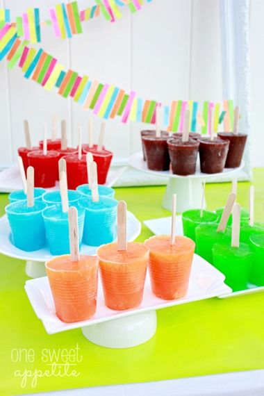 popsicles - exactly as Mom used to make when I was a kid.  Just made 3 batches the other day :)  LOVE!