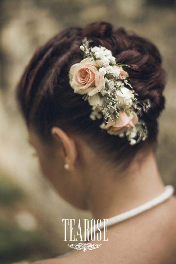 Őszi antik esküvő menyasszonyi hajdísze