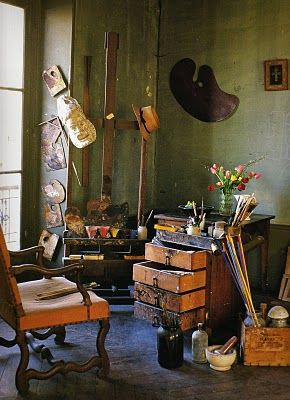 :D this is a great room.Wall Decor, Artists Studios Spaces, André Derain, Art Studios, Derain Studios, Artists House, Andre Derain, Coffe Tables Book, Gerard George Lemaire