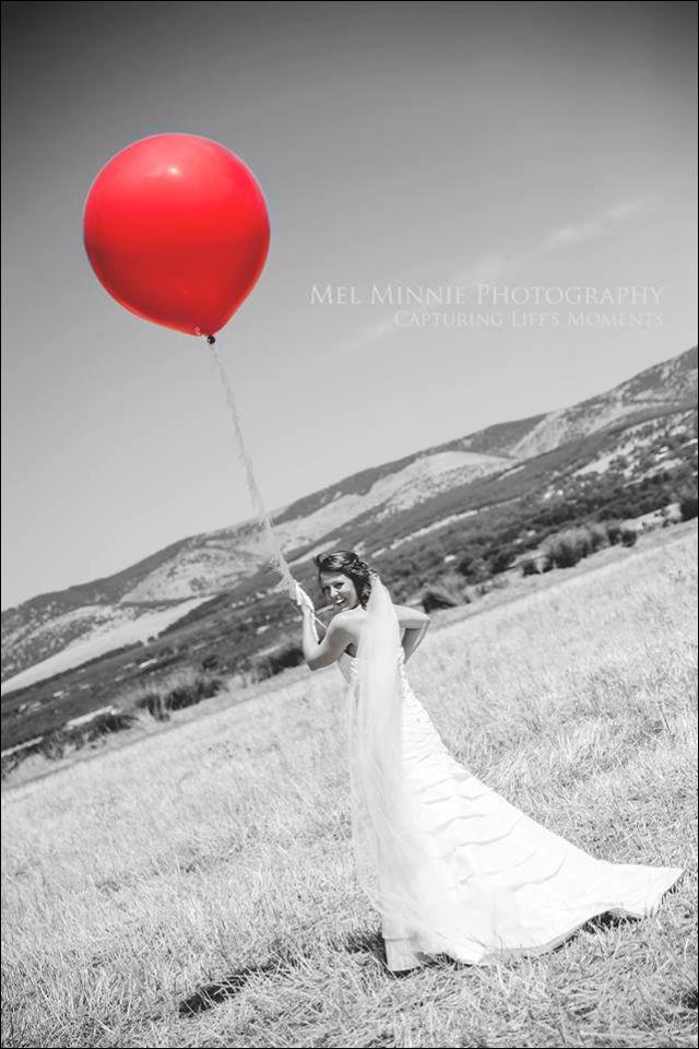 #bride #redballoon #wedding #whimsy #wedding