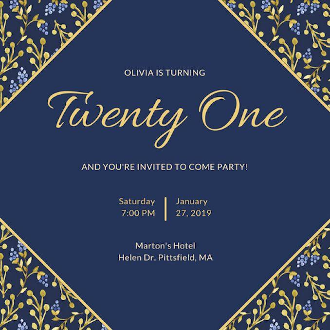 Birthday Invitation Card Template Lovely Invitation Maker Design Your Invitation Card Birthday Birthday Invitation Templates Birthday Invitation Card Template