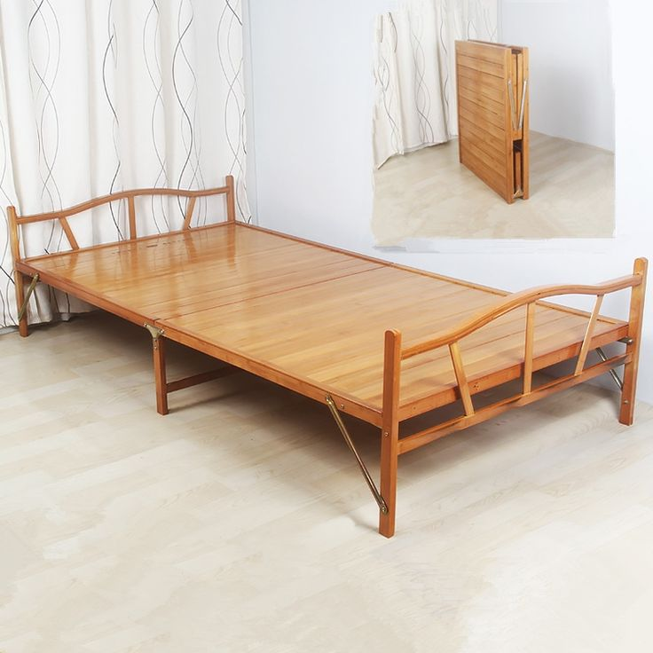 149.00$  Buy here - 1.0x1.9cm Modern Folding Bed Indoor Bamboo Furniture Single Foldable Bed For Guest Home Bedroom Furniture Platform Bed Folding  #magazineonlinewebsite