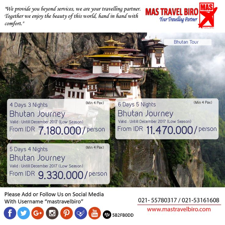 Bhutan Journey start from IDR 7.180.000/Person , Valid Untill September 2017 , Book Now !! ;) #mastravelbiro #bhutan #tour #exoticdestination
