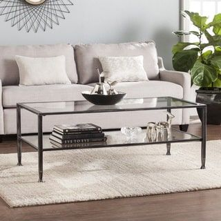 Shop for Harper Blvd Jensen Metal/Glass Rectangular Open Shelf Cocktail Table - Black. Get free shipping at Overstock.com - Your Online Furniture Outlet Store! Get 5% in rewards with Club O! - 21695417