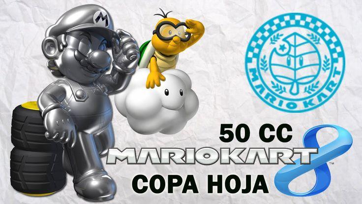 Mario Kart 8 Copa Hoja - En español jugando con Metal Mario. Gameplay de Mario Kart 8 en español jugando con Metal Mario. 50 cc para Wii U. www.adverglitch.com