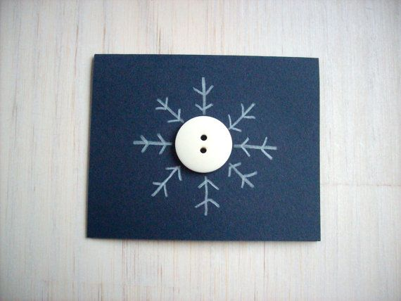 5 Snowflake Christmas Cards Set 5 Cards Mini by ordinaryartists, $8.00