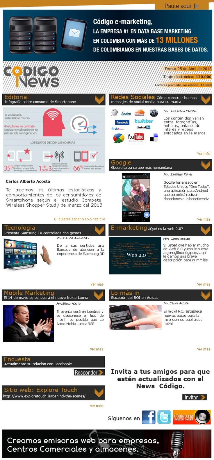 Recibe lo último en e-mailing, redes Sociales, mobile marketing y tecnología.