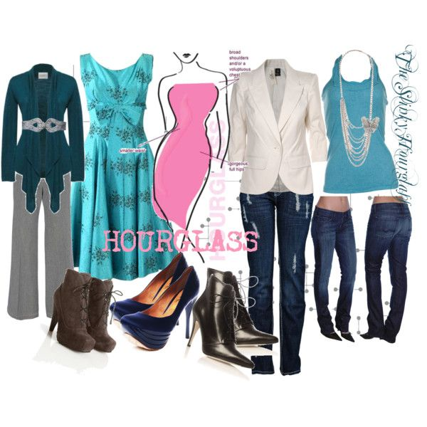 """""""Style for the Hourglass shape"""" by mizbee on Polyvore"""