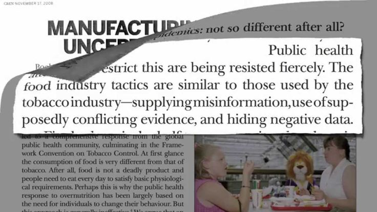 Food Industry Funded Research Bias