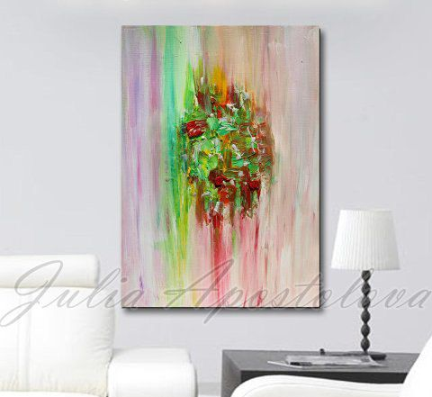 Hey, I found this really awesome Etsy listing at https://www.etsy.com/listing/200477206/abstract-print-large-art-pink-green