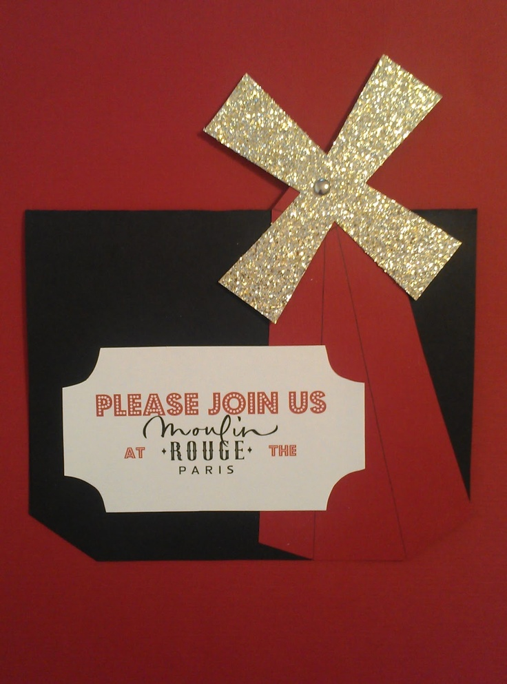 Moulin Rouge party invitation from Hi Honey, How Was Your Day?
